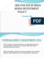 Framework for FDI in India and Foreign Investment Policy