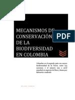 MECANISMOS DE CONSERVACIÓN DE LA BIODIVERSIDAD EN COLOMBIA