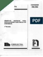 SIMBOLOS GRAFICOS PARA INSTALACIONES ELECTRICAS EN INMUEBLES. (1RA. REVISIÓN)  398-84