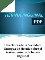 Actualización de Hernia Inguinal