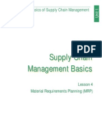 Basics of Supply Chain Managment (Lesson 4)