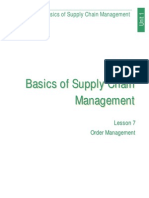 Basics of Supply Chain Managment (Lesson 7)