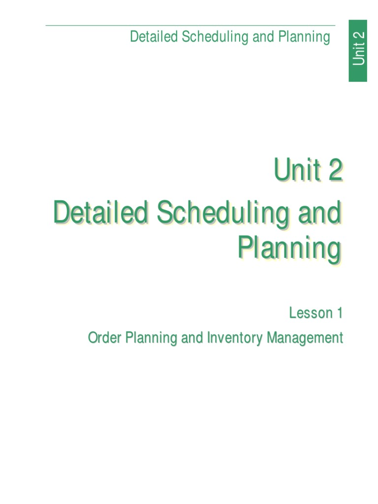 Basics of supply chain managment lesson 1 inventory supply detailed scheduling and planning lesson 1 xflitez Gallery