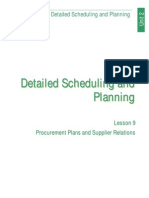 Detailed Scheduling and Planning (Lesson 9)