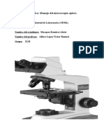 Reporte de Practica Microscopio