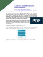 Aumentar Tiempo de DHCP MODEM Thompson St585