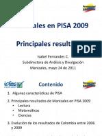 Presentacion Resultados comparados de Manizales en PISA 2009