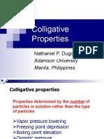 Colligative Properties Presentation