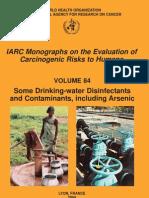 Arsenic -IARC Monograph V84