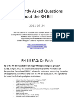 Frequently Asked Questions on the RH Bill