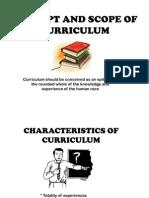 Concept & scope of curriculum