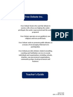 201012 Free Debate Teacher's Guide