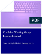 Conficker Working Group Lessons Learned 17 June 2010 Final