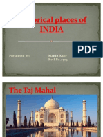 Historical Place of India Presentation