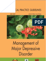 CPG Management of Major Depressive Disorder