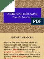 Aborsi Yang Tidak Aman