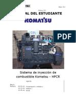 Sistema de inyección de combustible Komatsu - HPCR