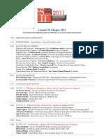Programma SIF 2011
