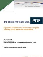 Trends in Sociale Media - Onderwijs