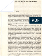 Texto Os Sentidos Das Palavras (Livro)