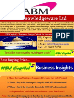 ABM Knowledge Ware Ltd (Code 531161) - HBJ Capital's (MPS Unit) - Business Insight Penny Stock Reco for Aug'10