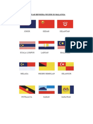 14 Buah Bendera Negeri Di Malaysia
