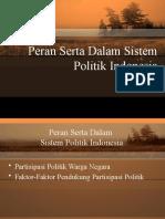 Peran Serta Dalam Sistem Politik Indonesia