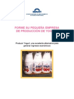 FORME SU PEQUEÑA EMPRESA DE PRODUCCION DE YOGURT