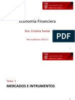 UPF Tema1 Mercados e Instrumentos Financieros Cristina Tomas