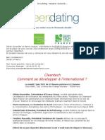 Green Dating - Cleantech _ Comment se développer à l'international - Mardi 7 juin 19H