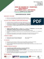 Torneo Preolimpica CAM 2011 1 - 2 - 3 Federados Caracteristicas Reducidas