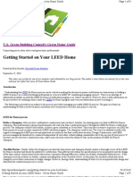 Getting Started on Your Leed Home