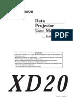 Mitsubishi Manual Xd20
