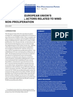 Mapping the EU's institutional actors related to WMD non-proliferation