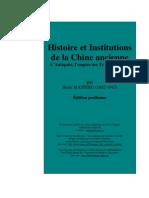 Maspero Histoire Et Institutions Chine Ancienne