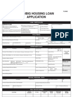 FLH060 Pag-IBIG Housing Loan Application
