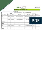 PGDM Ebiz 09-11 Daily Schedule