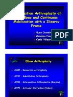 Interposition Arthroplasty of the Elbow and Continuous Mobilization with a Ilizarov Frame. Nuno Craveiro Lopes, Carolina Escalda, Carlo Villacreses