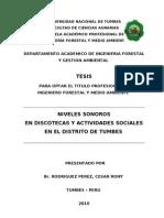 Tesis - Niveles Sonoros en Discotecas y Actividades Sociales en El Distrito de Tumbes-Peru