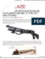 Could Your Shotgun Soon Be Outlawed Maybe, If the ATF Has Its Way