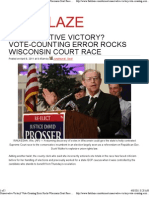 Conservative Victory Vote-Counting Error Rocks Wisconsin Court Race the Blaze