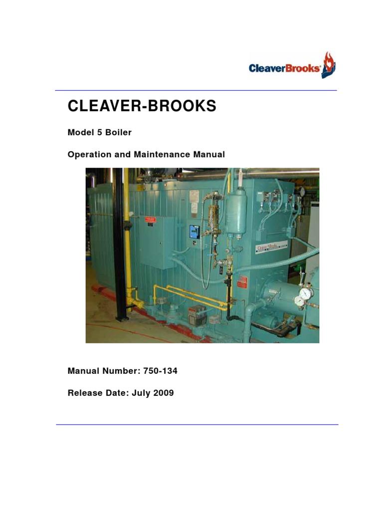 Model 5 Operating and Maintenance Manual | Boiler | Valve