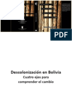 Descolonización en Bolivia. Cuatro ejes para comprender el cambio.
