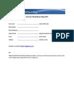 Formulir Blog