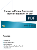 5 Ways to Ensure Successful Implementation of an ERP