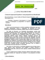 A teoria da separação de poderes e suas perspectivas no Brasil atual