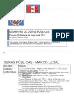 SEMINARIO DE OBRAS PÚBLICAS I