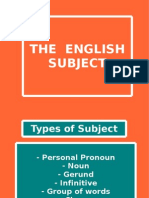 The English Subject