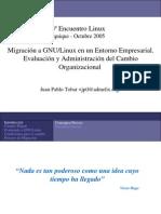 Administración de Cambio de Migracion de Windows a Linux8