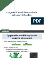 gelişim genetiği 30.05.2011 (Epigenetik modifikasyonlarla çalışma metodları)